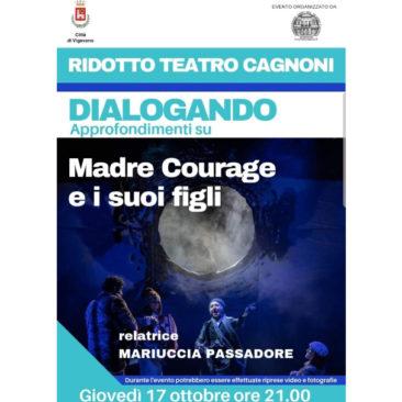 Locandina per Dialogando su Madre Courage e i suoi figli