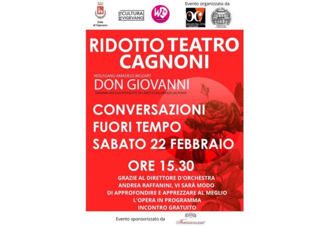 Locandina Conversazioni Fuori Tempo 22 febbraio 2020 ore 15.30: Don Giovanni