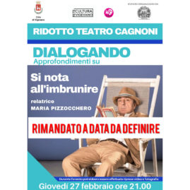 Locandina Dialogando su Si nota all'imbrunire 27 febbraio 2020 ore 21